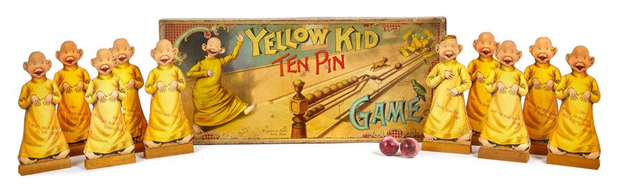 Yellow Kid Ten Pin Game