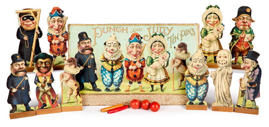 Punch and Judy Ten Pins Game