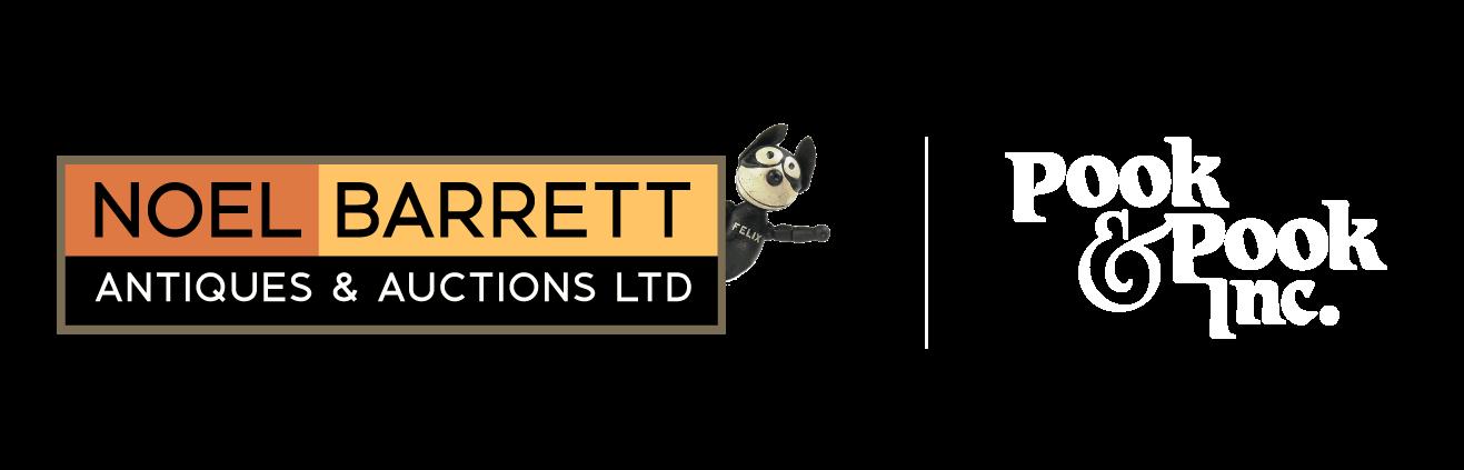 Noel Barrett Logo and Pook & Pook logo